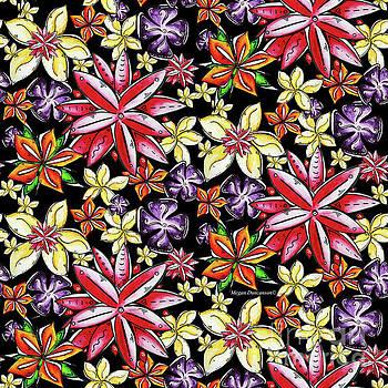 Tropical Floral Colorful Pattern Fun and Unique by Megan Duncanson by Megan Duncanson