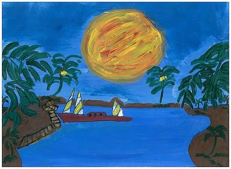 Tropical Harbor by Rosemary Mazzulla