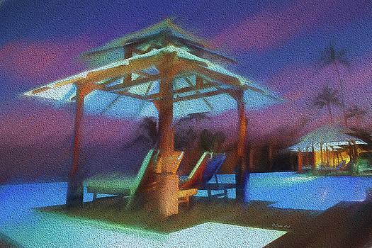 Tropical  Nightscape by OLenaArt Lena Owens