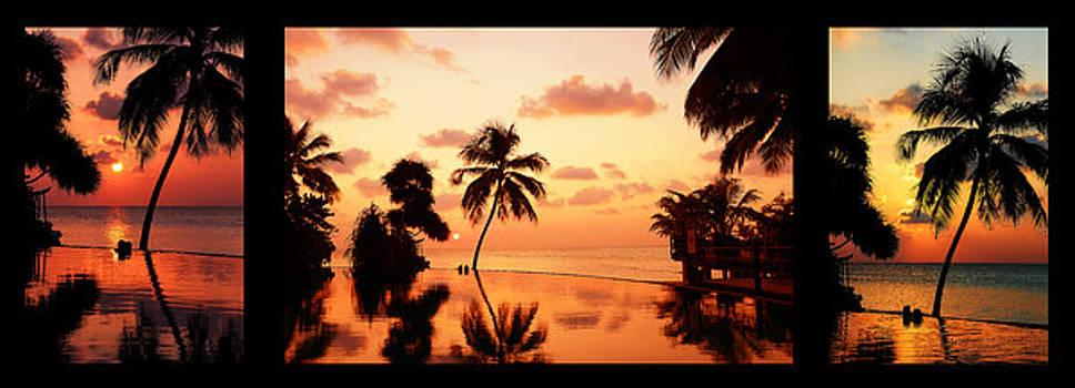 Jenny Rainbow - Tropical Sunset 2. Triptych
