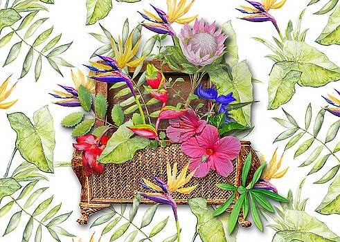 Tropicals in a Basket by Larry Bishop