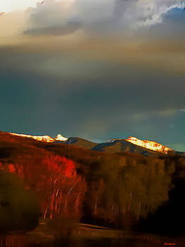 Truchas Peaks Evening Glow  by Anastasia Savage Ealy