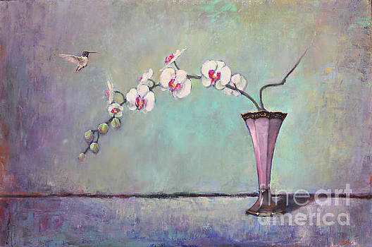 Trumpet Vase and Orchid  by Lori  McNee