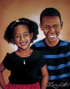 Tsega and Abenezer by Alaina Ferguson