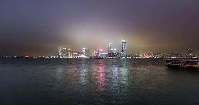 Tsim Sha Tsui Night Fog by Bun Lee