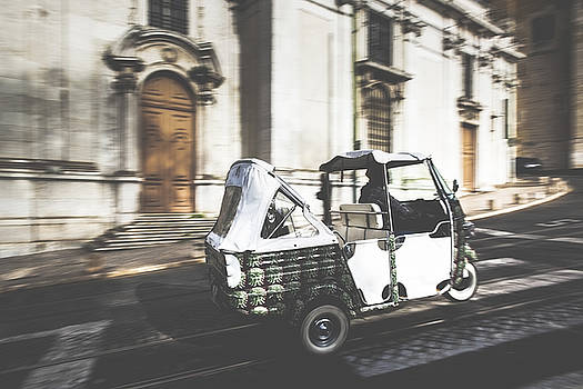 Tuk Tuk in Front of the Cathedral by Andre Goncalves