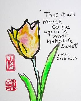 Tulip Etegami by Marita McVeigh
