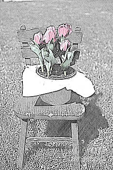 Tulip on the Chair by Sherry Hallemeier