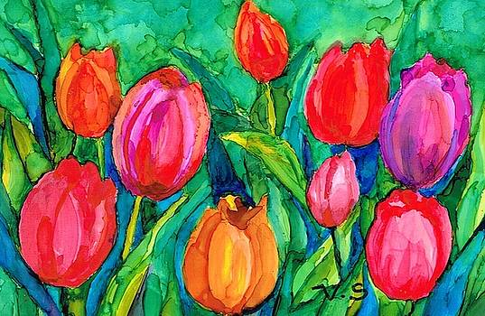 Tulips Galore by Val Stokes