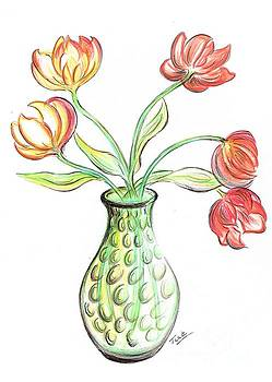 Tulips in a Vase by Teresa White