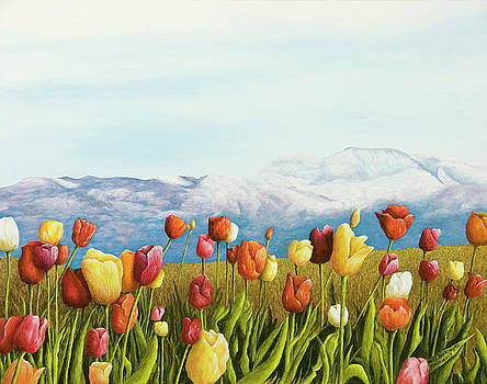 Tulips in the Alps by Mary Ann King