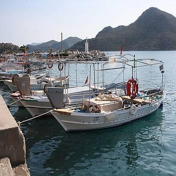 Tracey Harrington-Simpson - Turkish Fishing Boats Moored at Bozburun