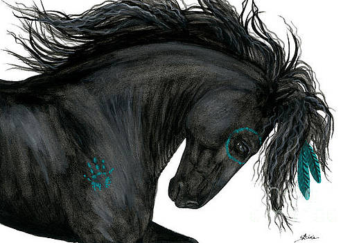 Turquoise Dreamer Horse by AmyLyn Bihrle