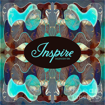 Turquoise Imagination Abstract Tote Bag Art by Omashte by Omaste Witkowski