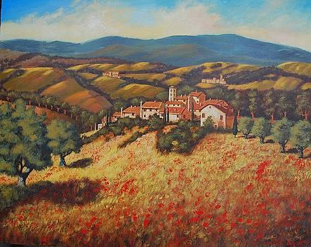 Tuscan Countryside by Santo De Vita