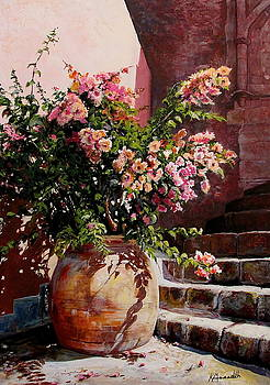 Tuscan Flower Garden by Kevin Meredith