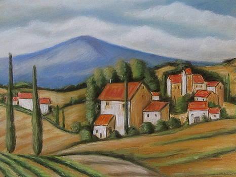 Tuscan Landscape by Melinda Saminski