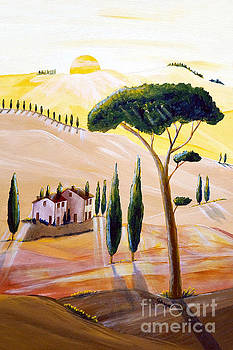 Tuscany in the morning by Christine Huwer