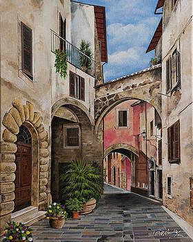 Tuscany Street Scene by Bill Dunkley