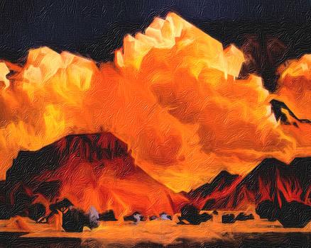 Twilight West of Taos by Terry Fiala