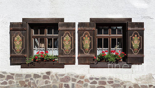Twin Decorated Windows by Yair Karelic