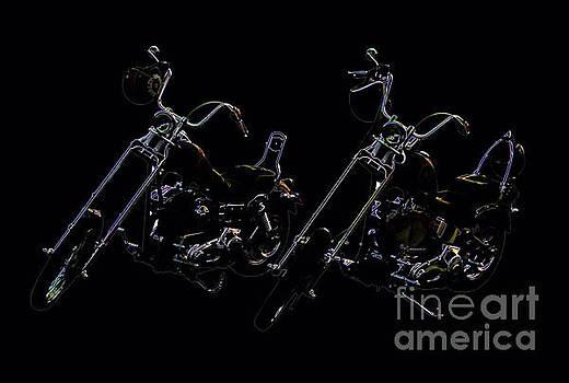 Twin Harleys by Baggieoldboy