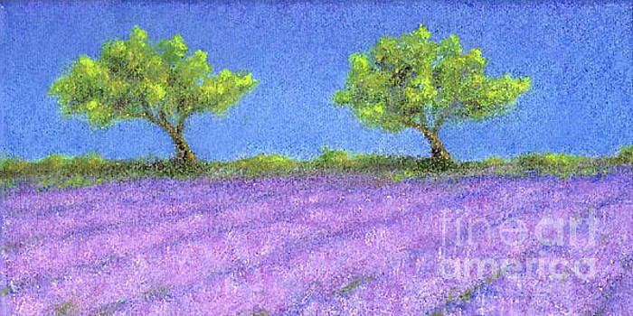 Twin Oaks and Lavender by Jerome Stumphauzer