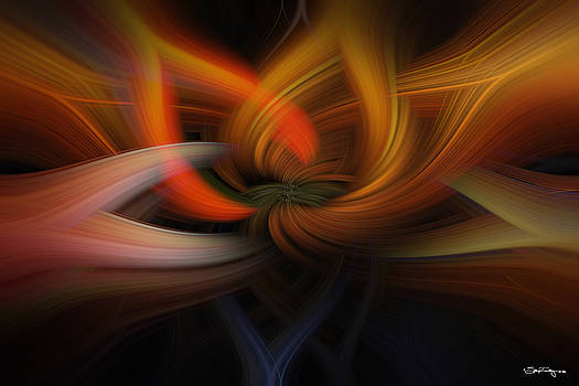 Twirl Abstract by Skip Tribby