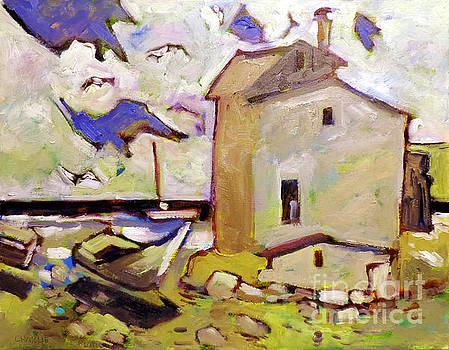 Twirling Gulls at Penasco Bay framed by Charlie Spear