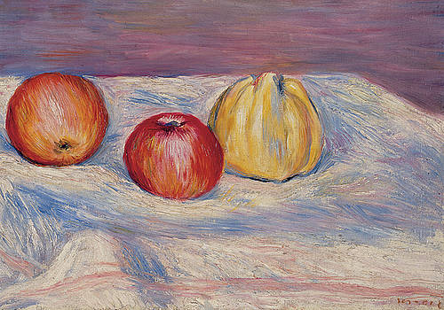 Pierre Auguste Renoir - Two Apples and a Quince