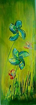 Xafira Mendonsa - Two blue flowers