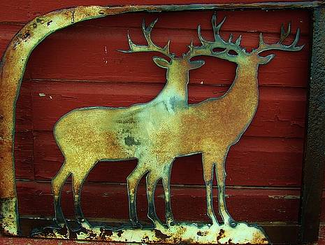 Two Bucks 1 by Larry Campbell