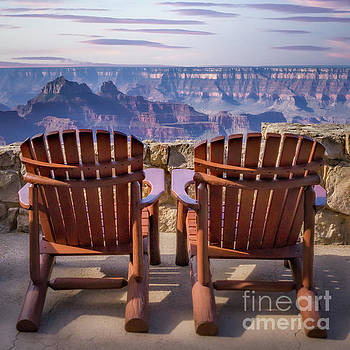 Two Chairs at the Grand Canyon by Jerry Fornarotto