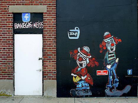 Two Clowns by JoAnn Lense