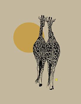 Two giraffes by Robert Breton