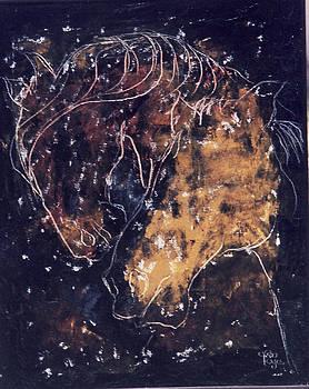 Two Horses by Mohd Raza-ul Karim