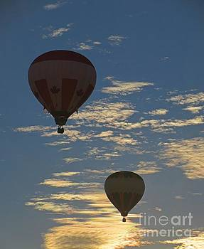 Two Hot Air Balloons in a Beautiful Sky by John Malone