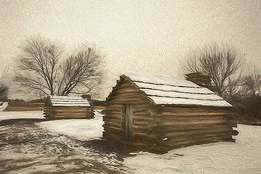 Two Huts in the Snow by Jeff Oates Photography