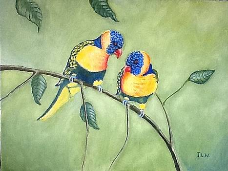 Two little birds by Justin Lee Williams