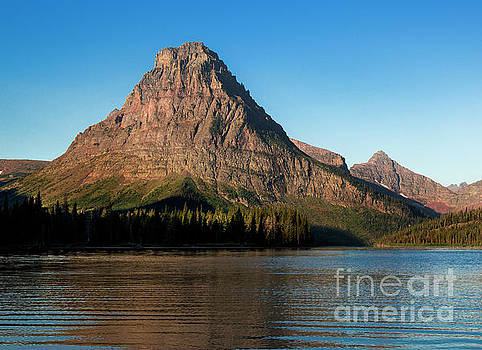 Two Medicine Lake with Sinopah Mountain - Glacier National Park by Yefim Bam