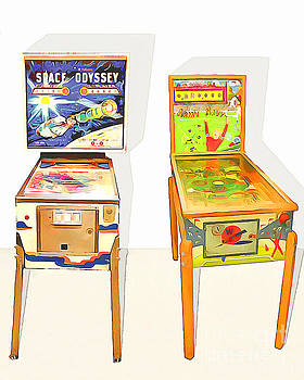 Wingsdomain Art and Photography - Two Pinball Machines 20160226