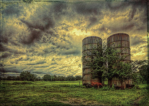 Two Silos by Lewis Mann