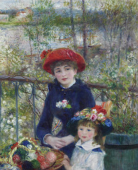 Pierre Auguste Renoir - Two Sisters or On The Terrace