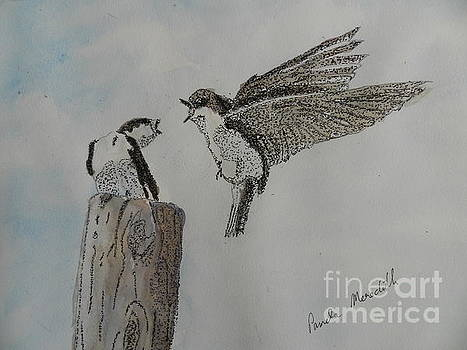 Two Swallows by Pamela Meredith