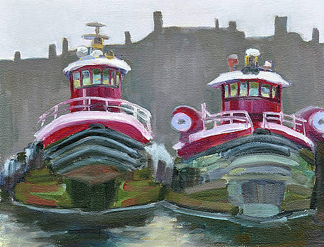 Two Tugs by Mary Byrom