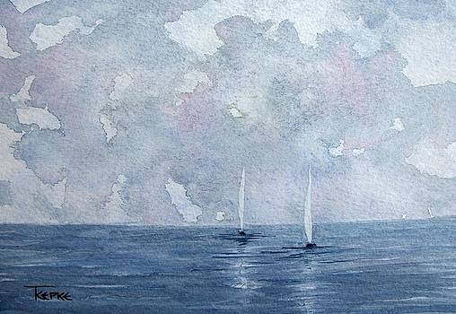 Two White Sails by Trudy Kepke