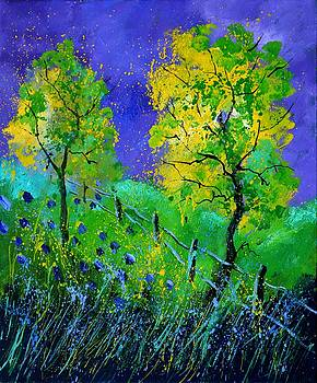 Two yellow trees by Pol Ledent