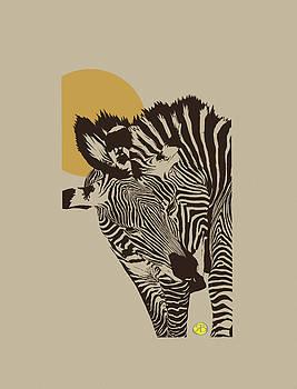 Two zebras by Robert Breton