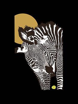 Two Zebras, Deux Zebres by Robert Breton