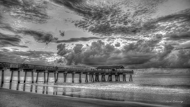 Tybee Island Pier Sunrise Cloud Cover by Reid Callaway
